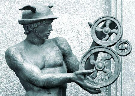 水銀のアンティーク彫刻