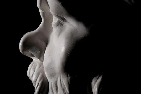 黒の背景上に分離されてソクラテス像