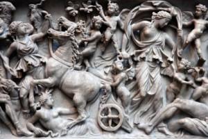 古代ローマの石棺の詳細