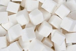 砂糖の立方体のバック グラウンド テクスチャ。